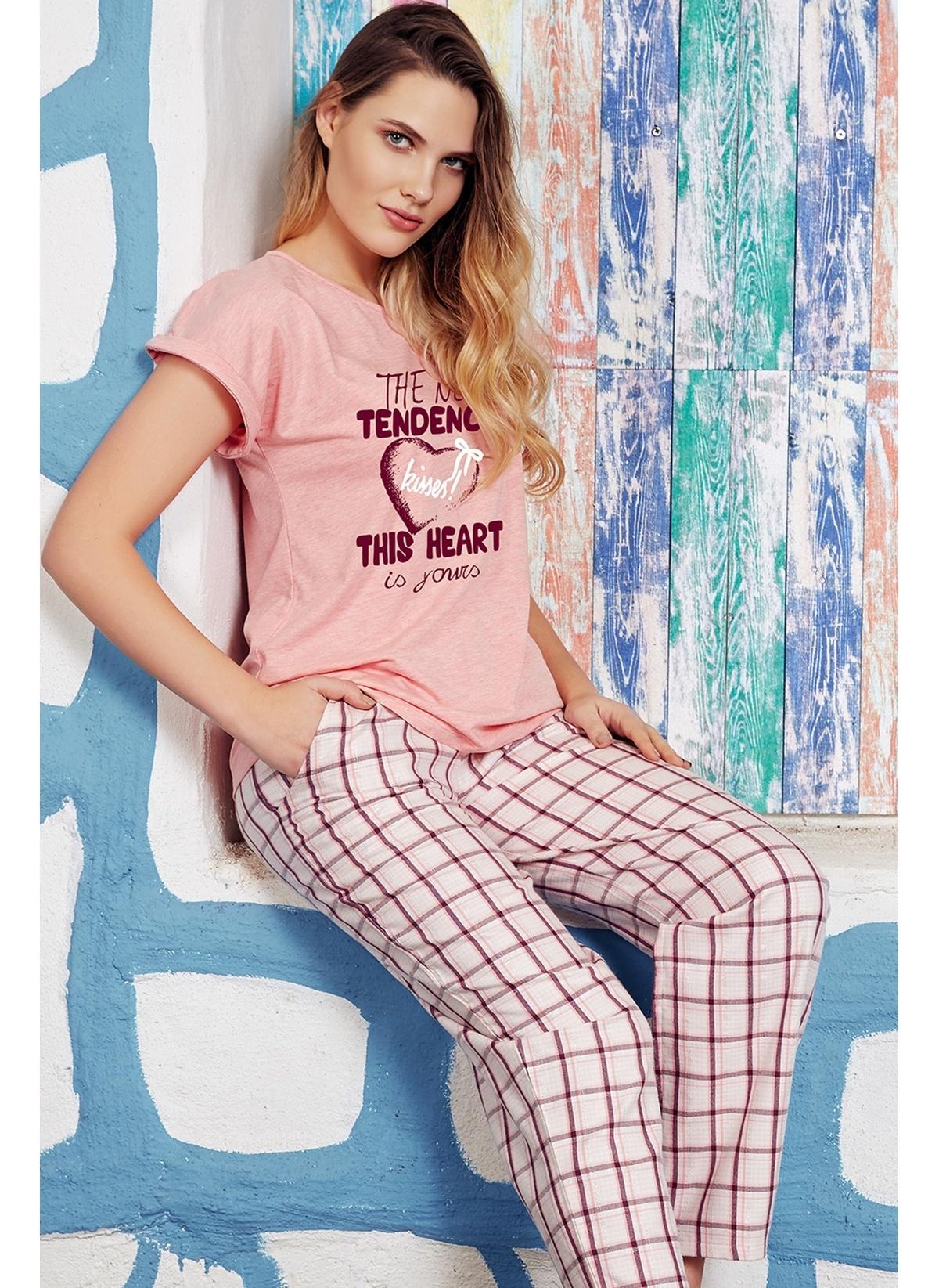 Anıl Kadın T-shirt Pijama Takım Man9532 Kadın T-shirt – 91.9 TL